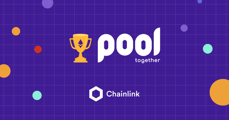 PoolTogether and Chainlink integration banner