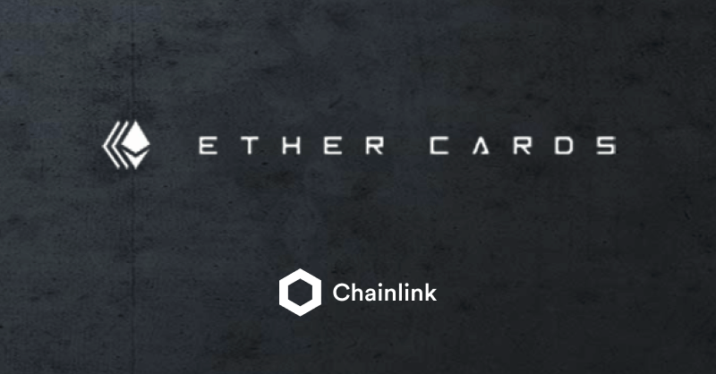 Ether Cards and Chainlink integration banner
