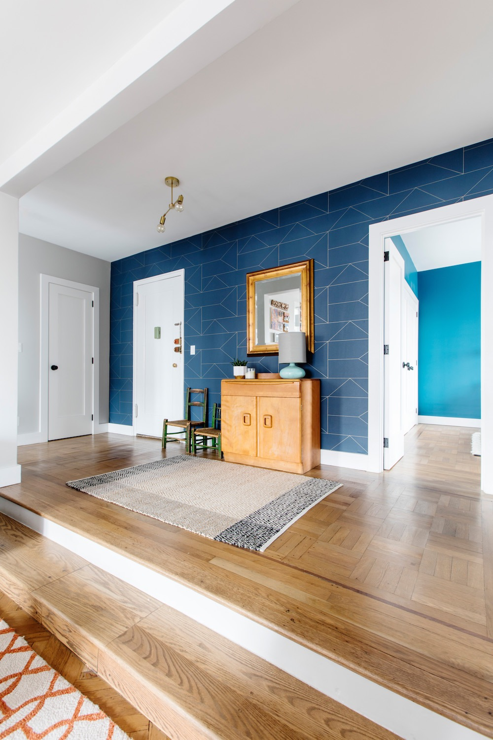 Apartment renovation wood floors by Intrabuild Construction