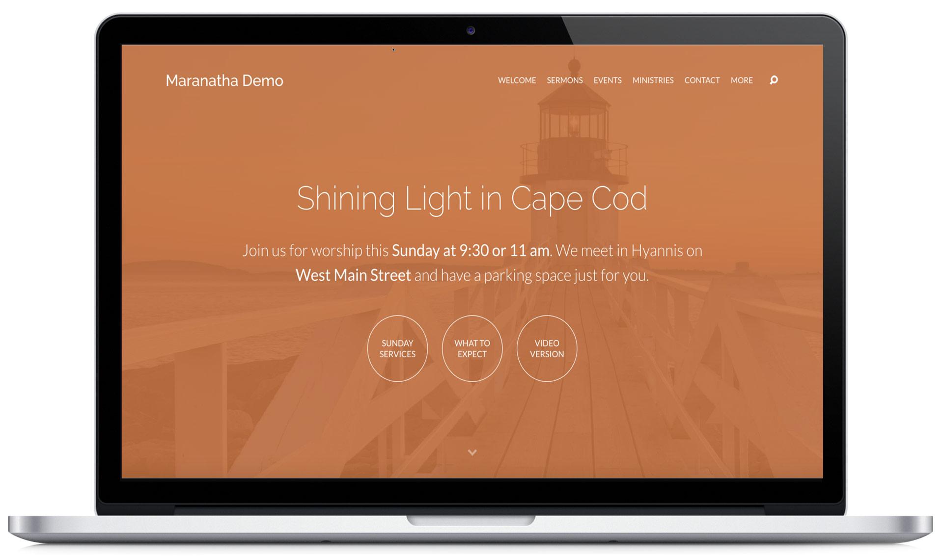Maranatha Church Wordpress Theme from ChurchThemes.com