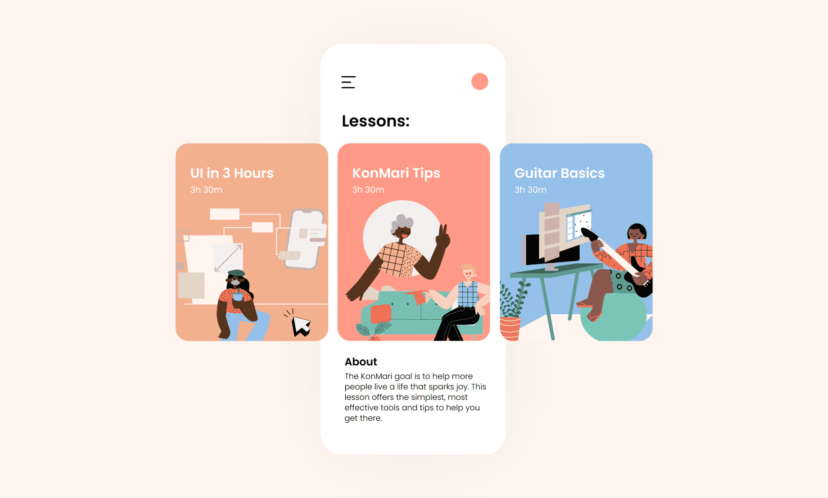 illustrations on app