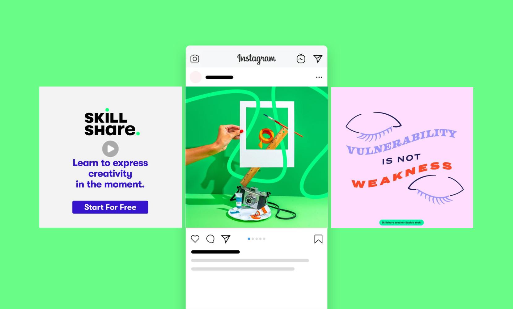 skillshare education ads design inspiration