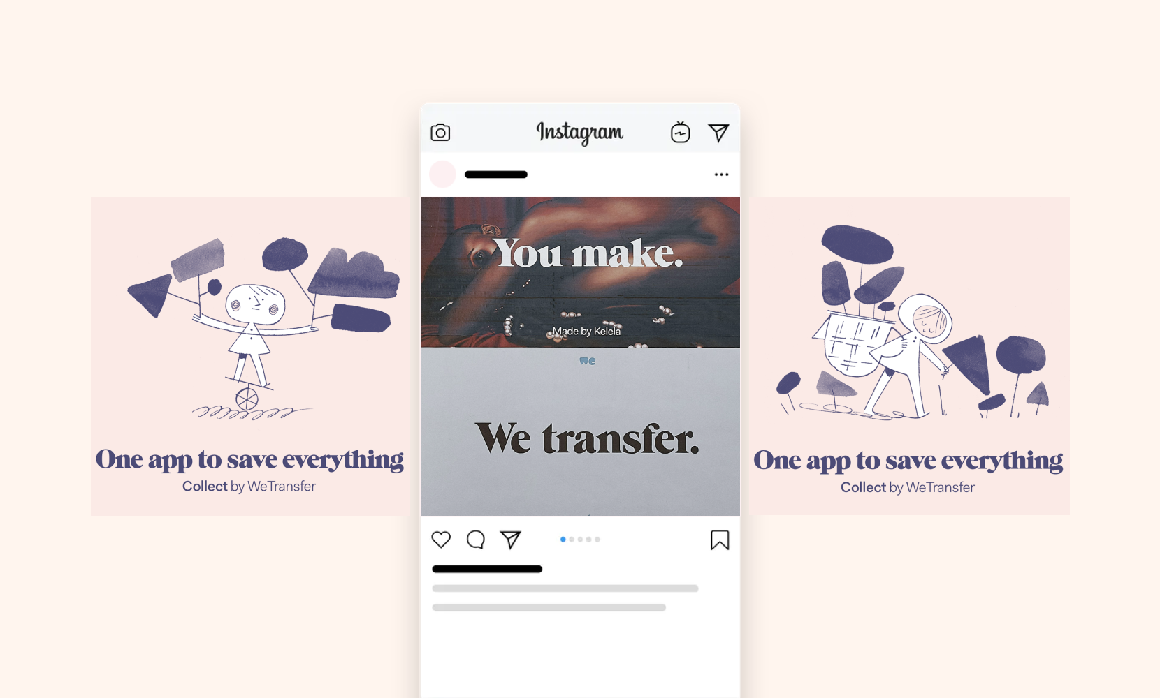 wetransfer app tech ads design inspiration
