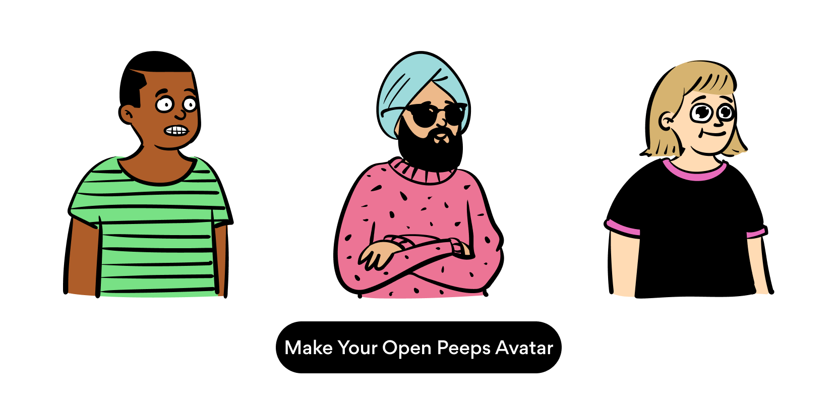Make your avatar with open peeps