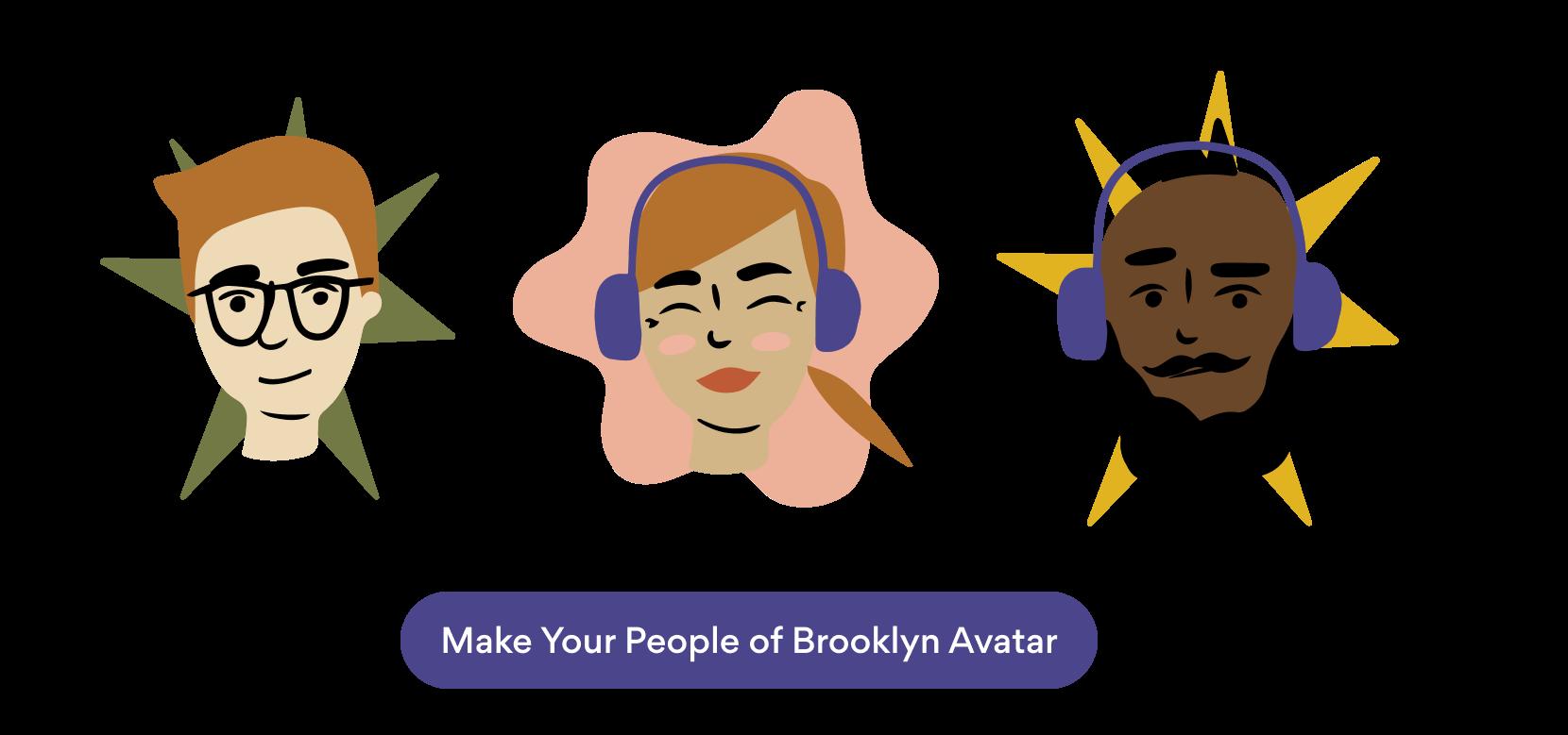 Avatars with People of Brooklyn illustrations