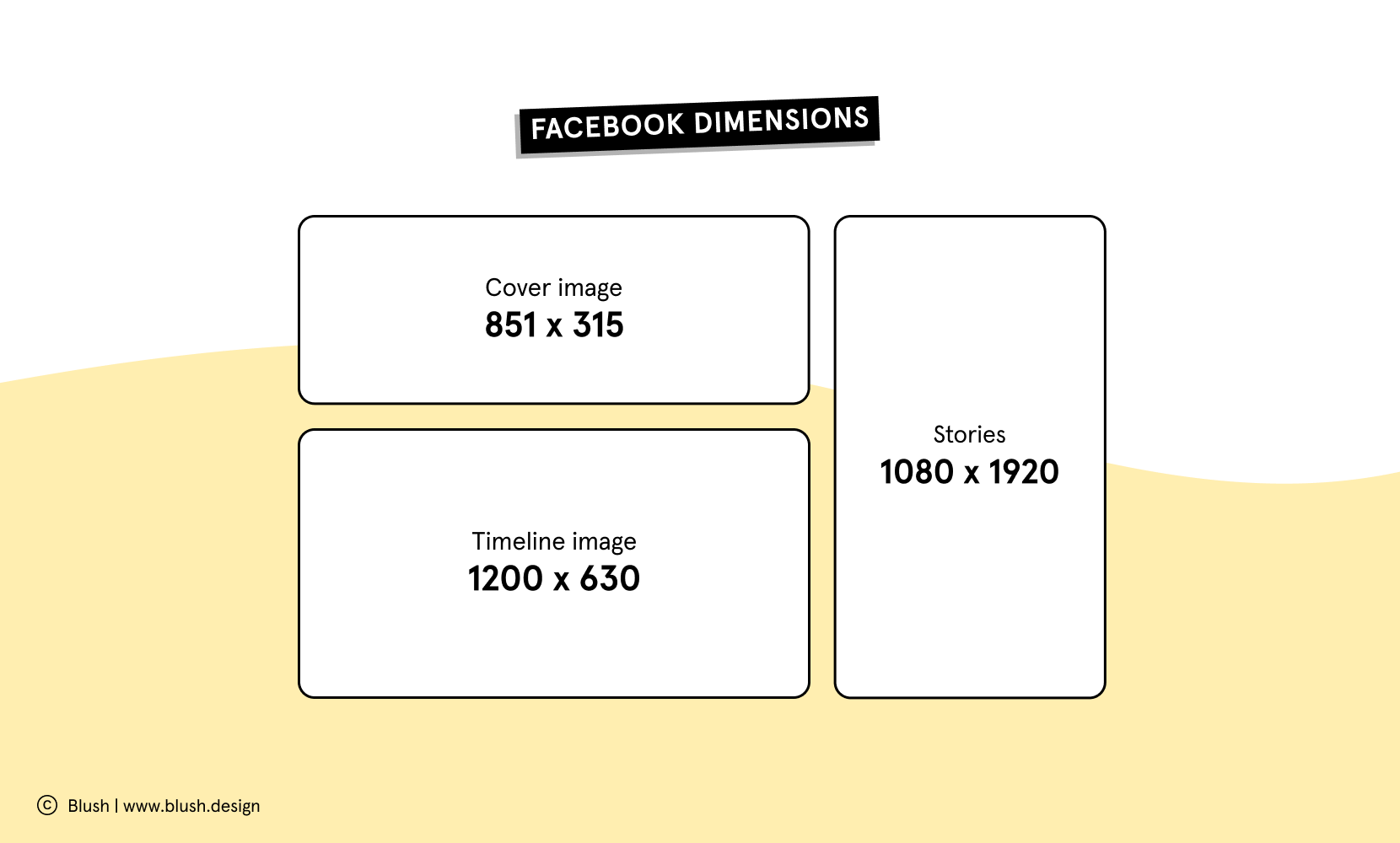Facebook dimensions. Covr image 851 x 315, Timeline 12 0 x 630, stories 1080x1920