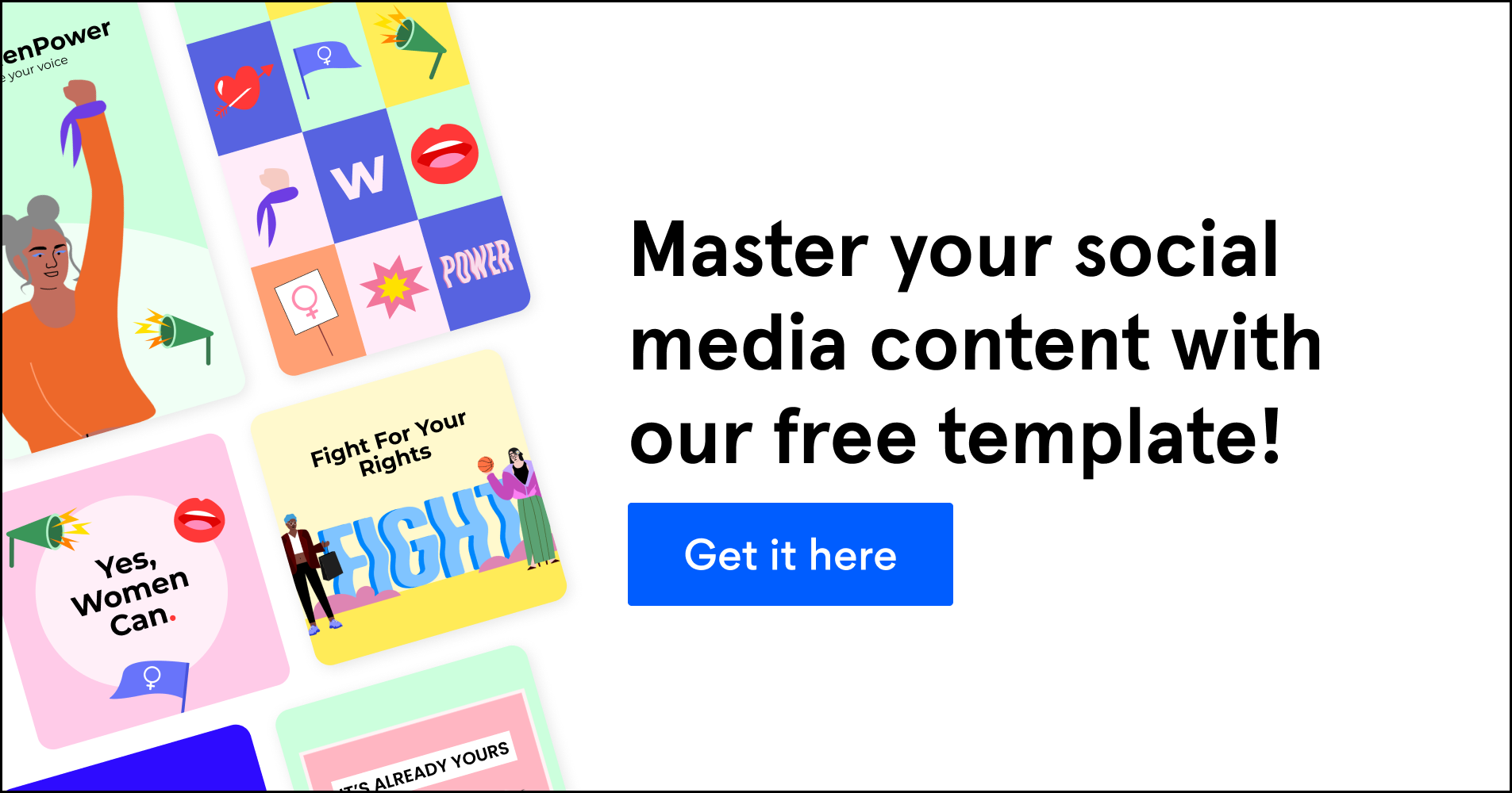 Master your social media content with our free template. Get it here