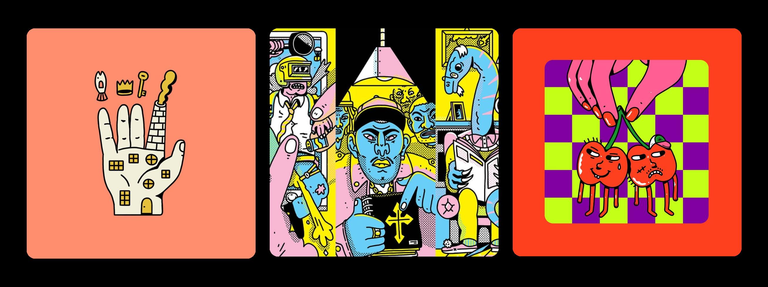 Psychedelic illustrations by Cezar Berje