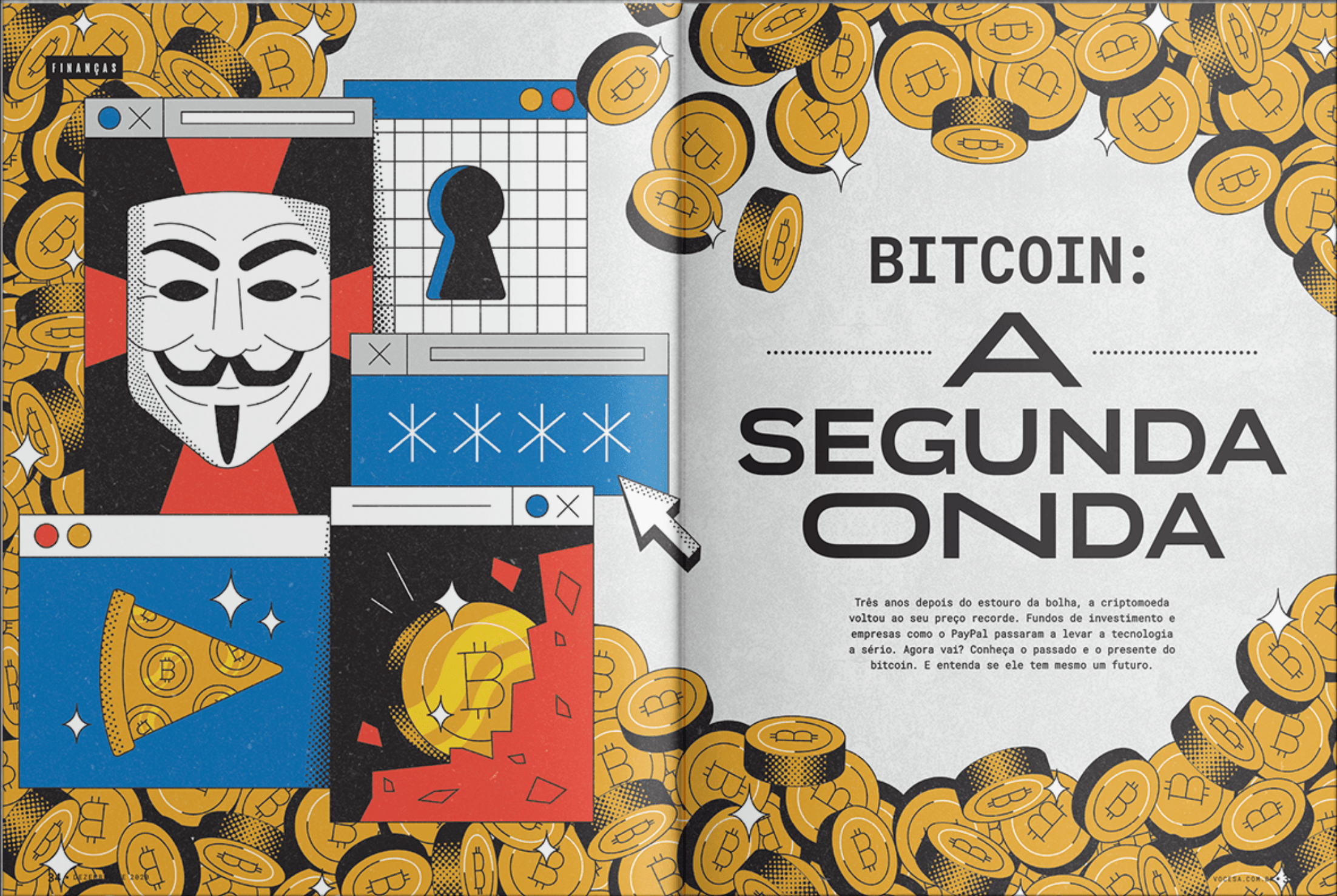 Illustrations by Gustavo for the magazine Voce S/A Magazine.