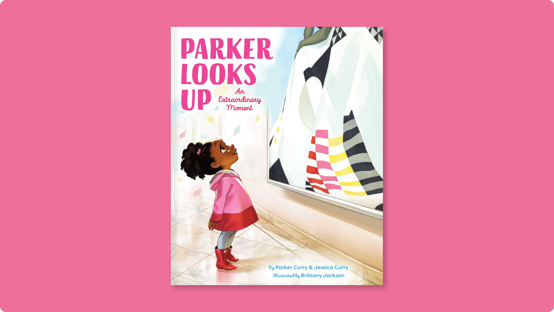 The stunning cover of Parker Looks Up by Parker Curry and Jessica Curry