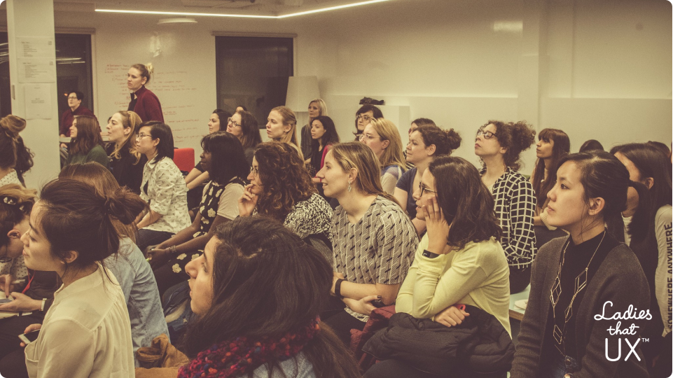 Attendees of a Ladies that UX meeting