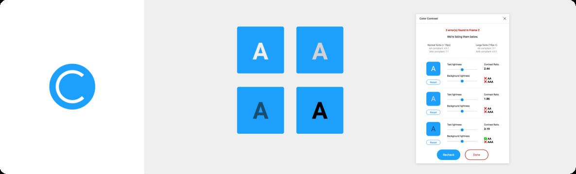 A11y Color Contrast Checker plugin for Figma