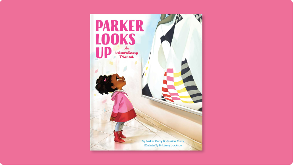 The stunning cover of Parker Looks Up by Parker Curry and Jessica Curry.