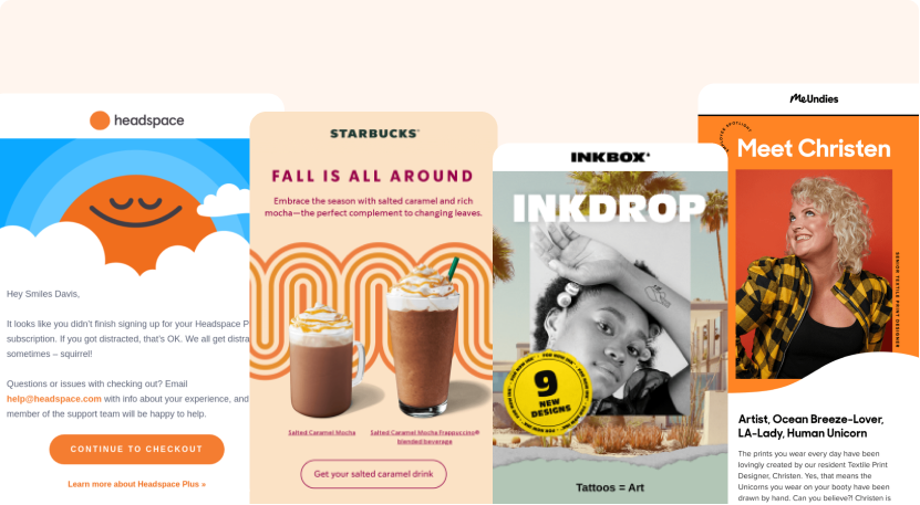 Different examples of awesome email newsletters