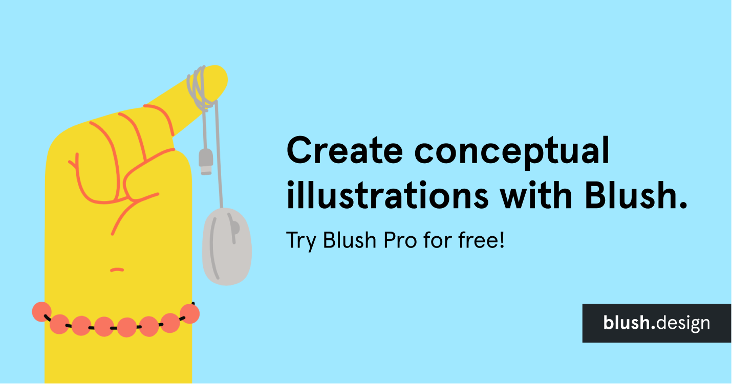 Create conceptual illustrations with Blush. Try Blush Pro for free!
