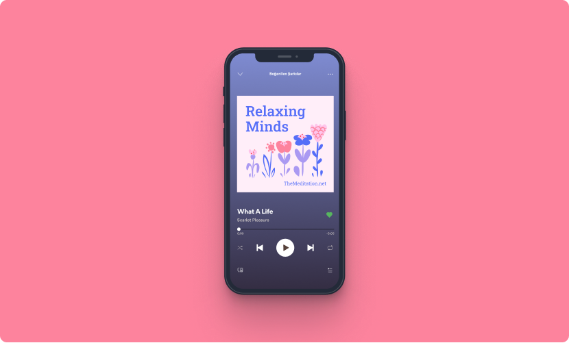 Podcast cover art on a mobile device