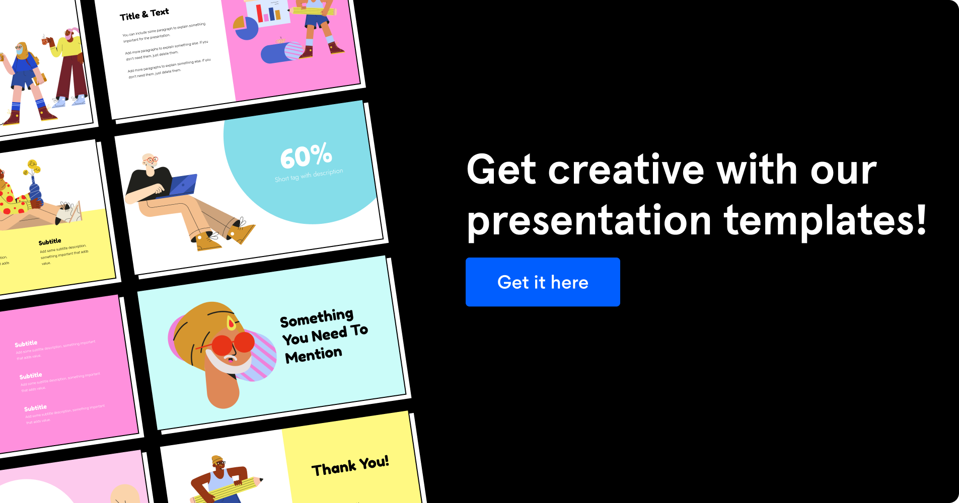 Image with button to download presentation templates.