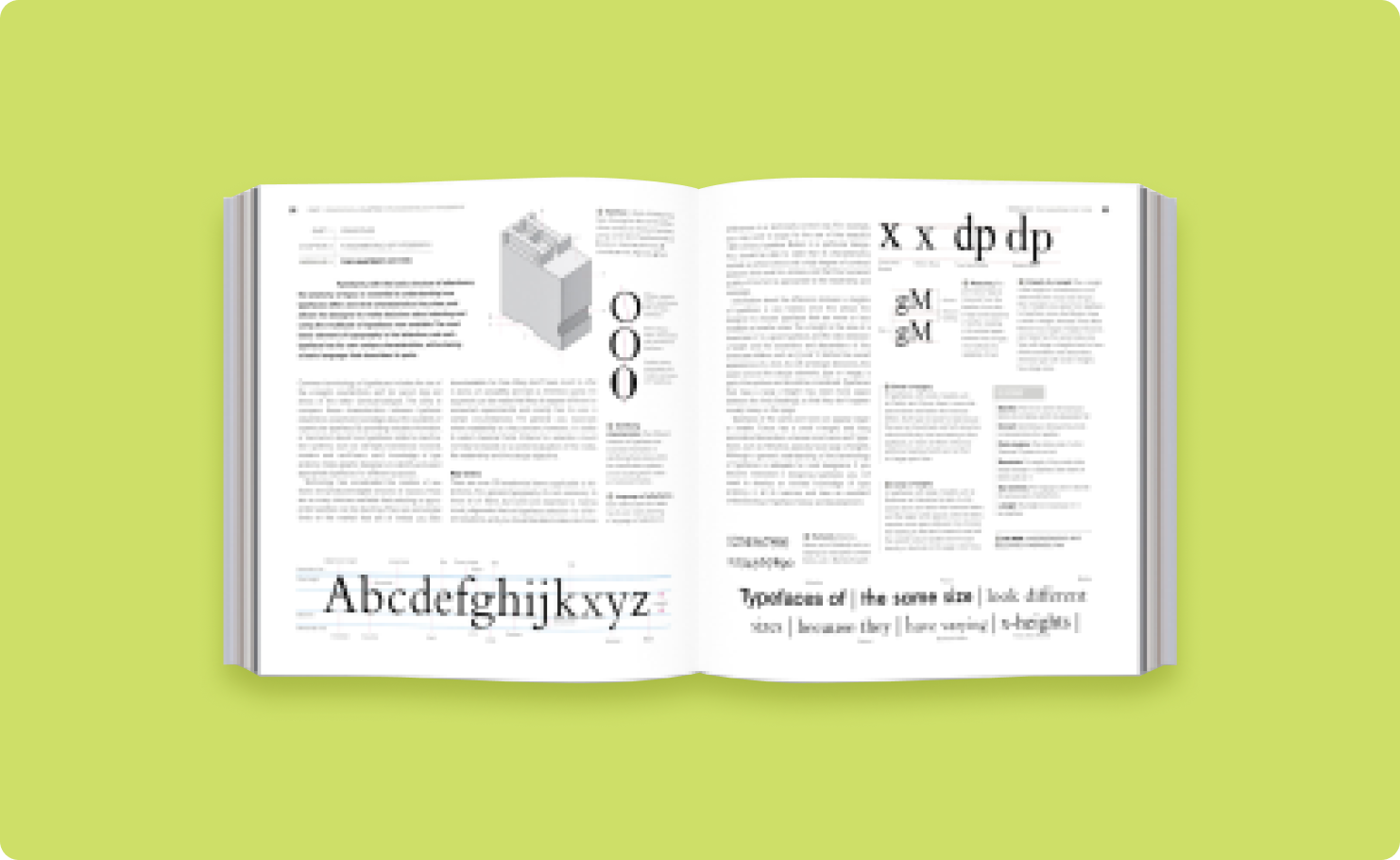 Image with sample pages from the book: Graphic Design School
