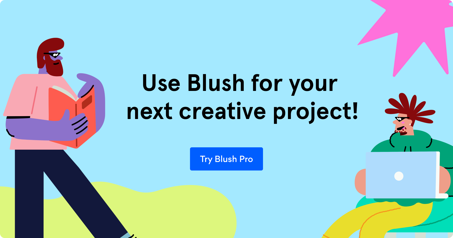 Call to action to get the trial for Blush Pro.
