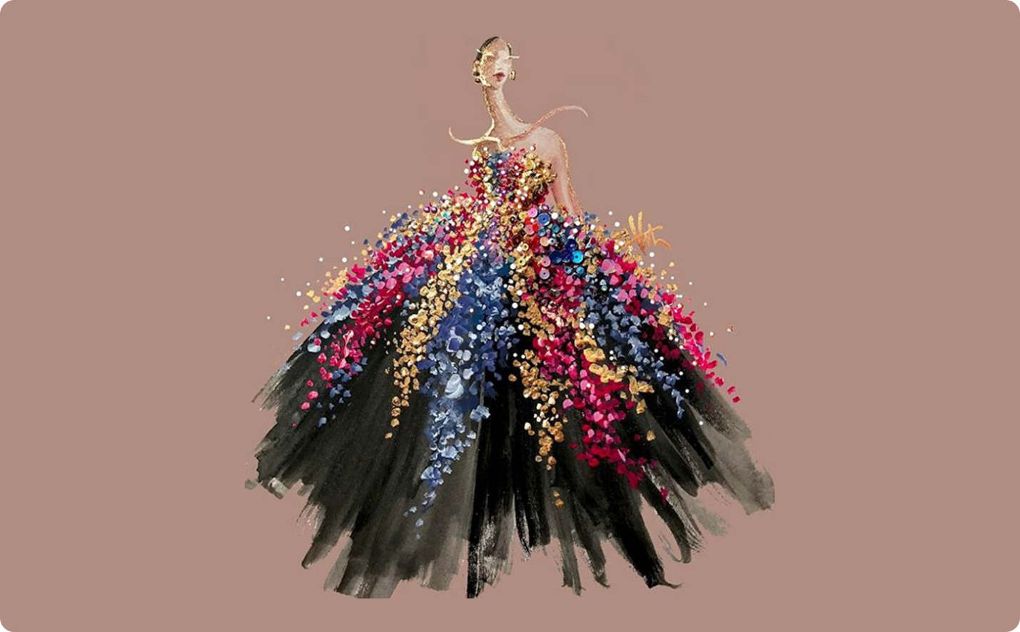 Image featuring a woman's dress representing fashion illustrations.