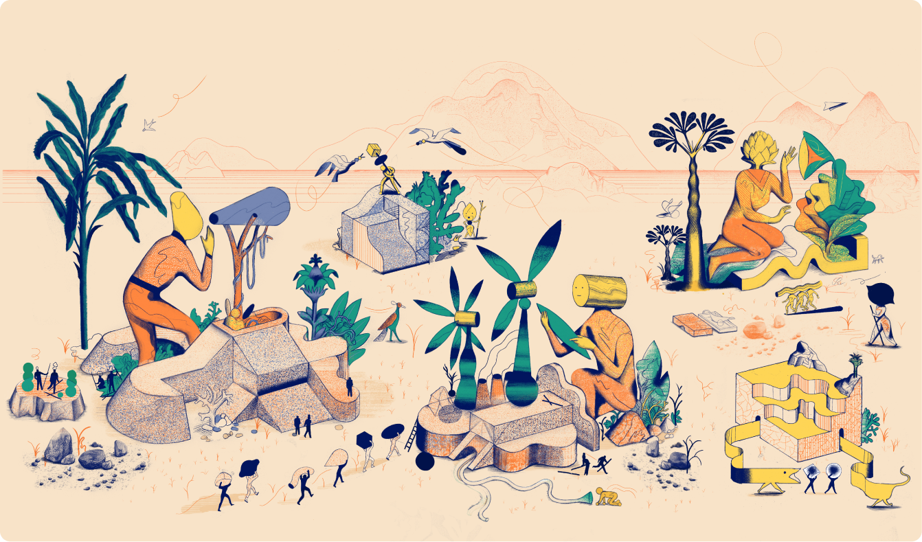 Illustrations featured on the Whereby website.