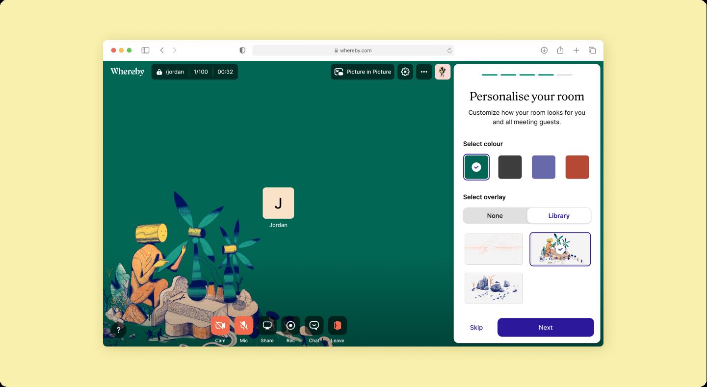 Whereby website UI design