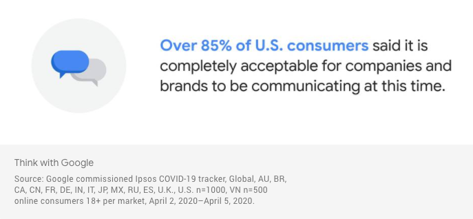Google Communication Quote Coivd-19