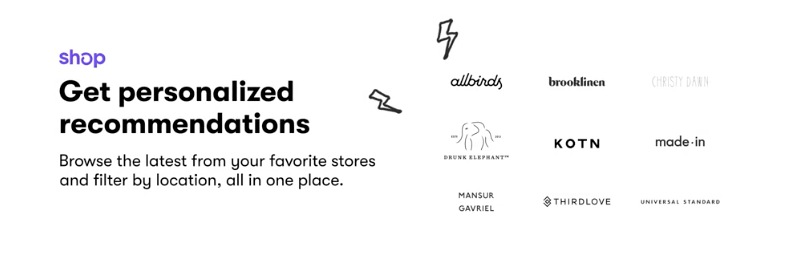 Shop Personalized Recommendations