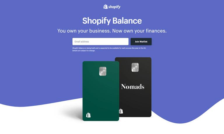Shopify Balance