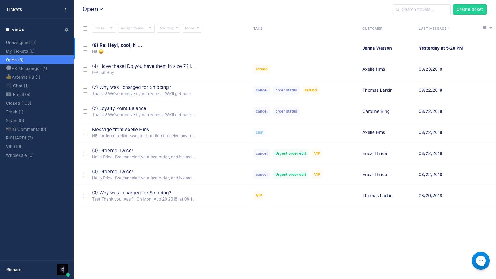 Gorgias - the helpdesk built for e-commerce