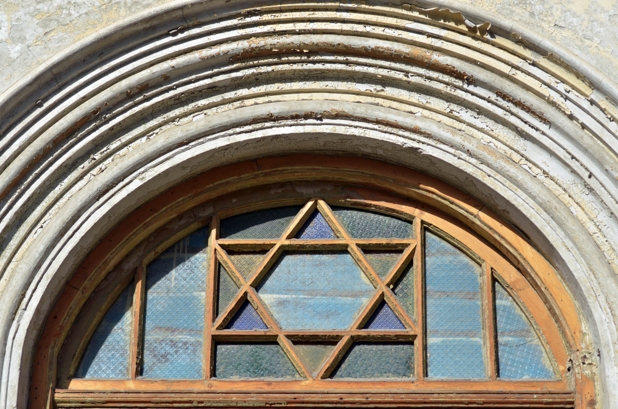 Star of David on a doorway of a synagogue
