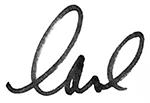 Carl Josehart's signature