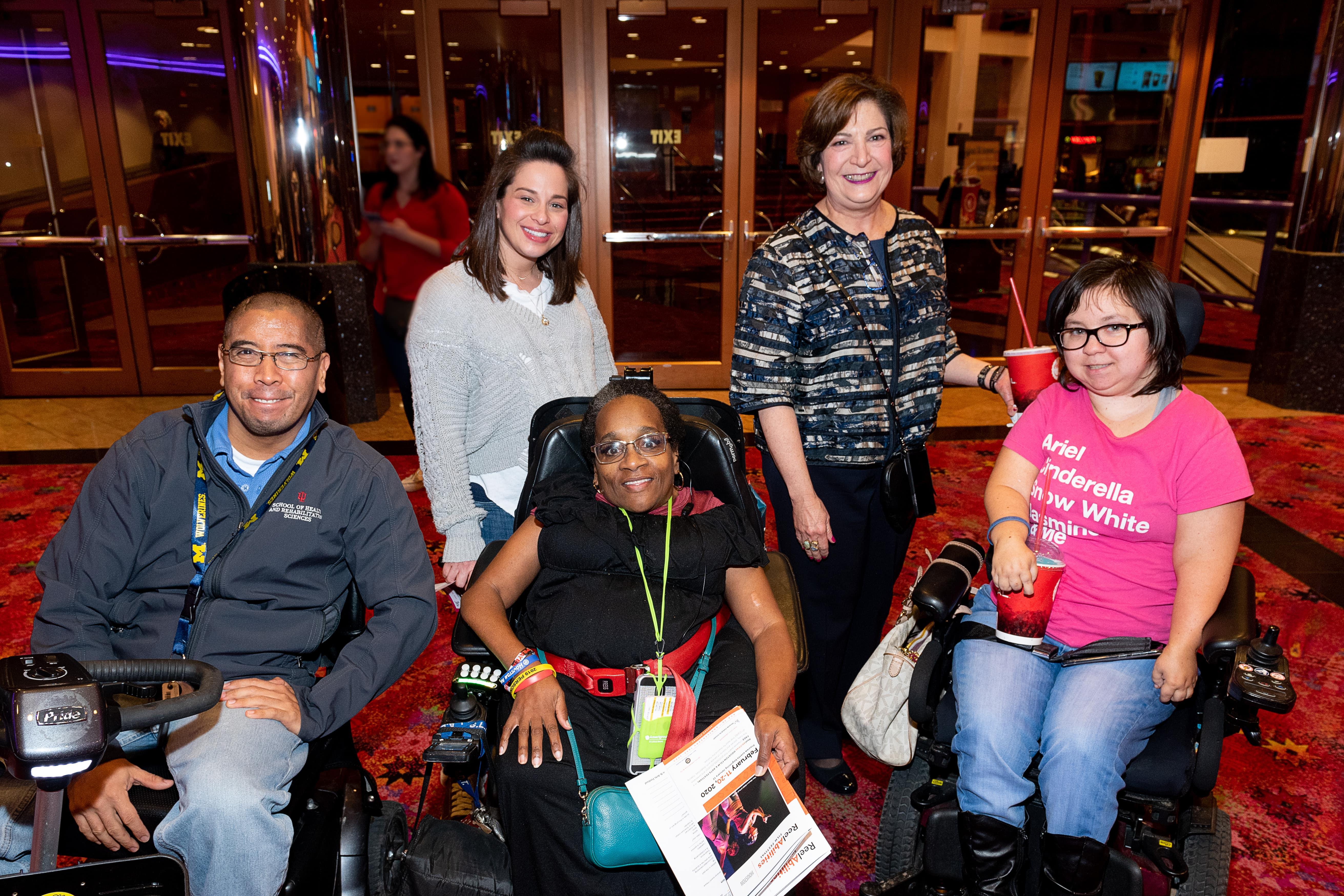 Group of people in lobby at ReelAbiliites film screening