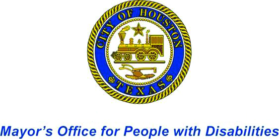 City of Houston Logo: Mayor's Office for People with Disabilities