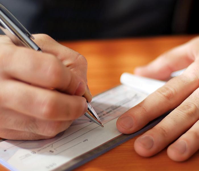 hand writing check
