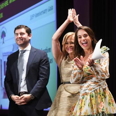 2018 Event Chairs Jason and Rori Feldman and Sandi Wolf celebrate