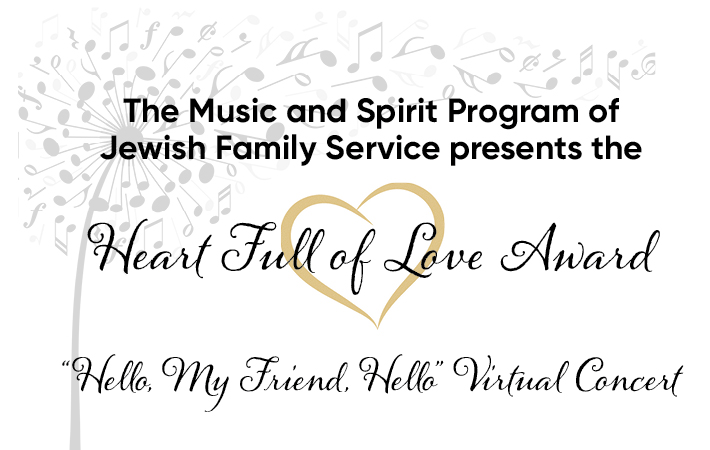 Heart Full of Love Award & Concert with dandelion artwork
