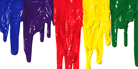 colorful dripping paint