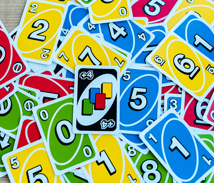 colorful Uno playing cards
