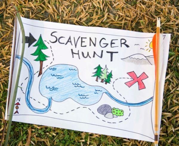 Scavenger map