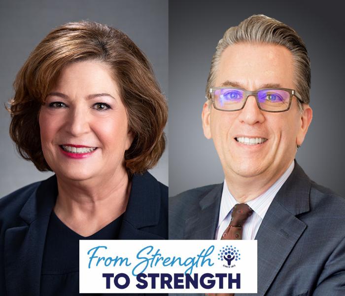 headshots of Linda Burger, CEO and Carl Josehart, COO and incoming CEO