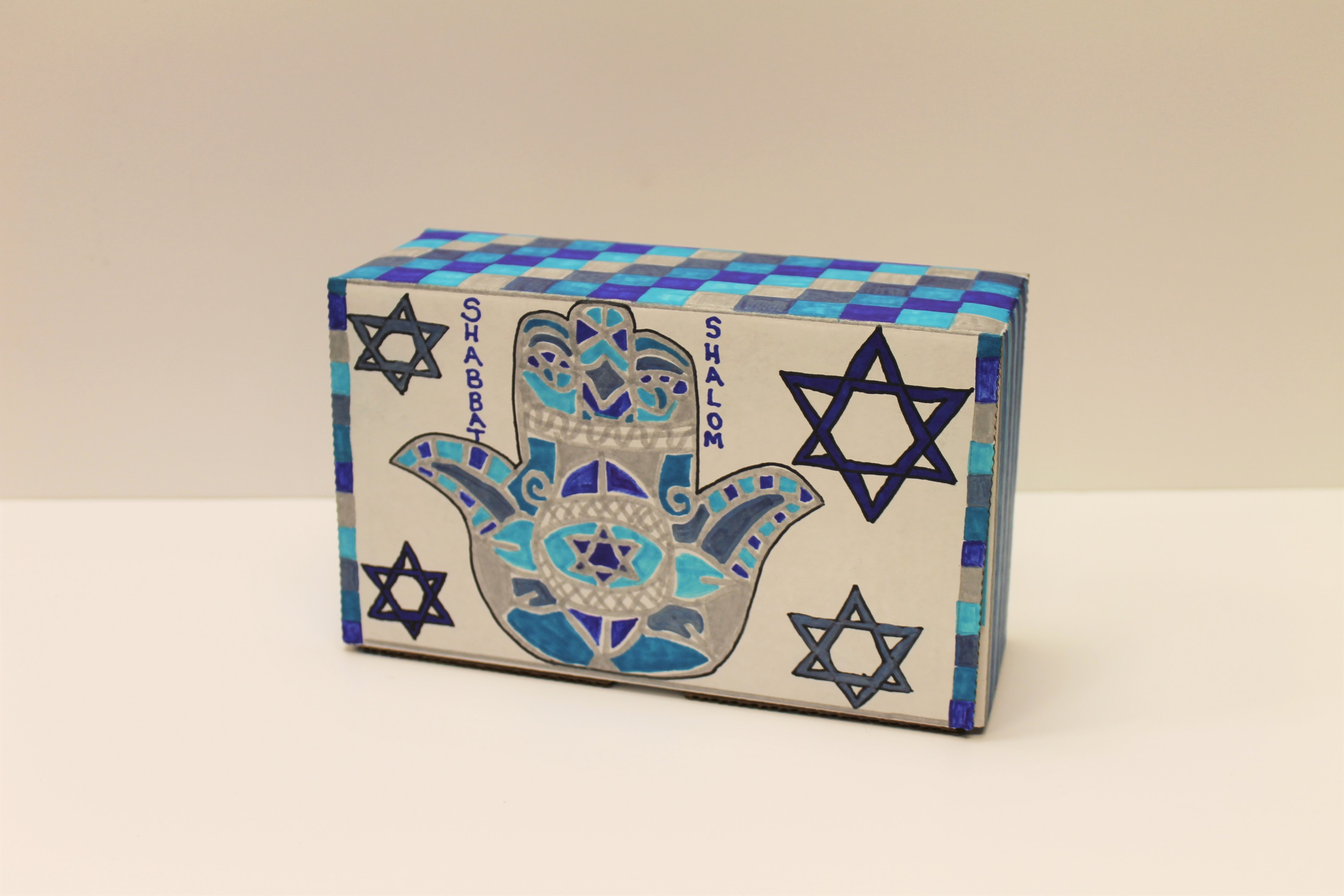 colorful drawings of the star of david