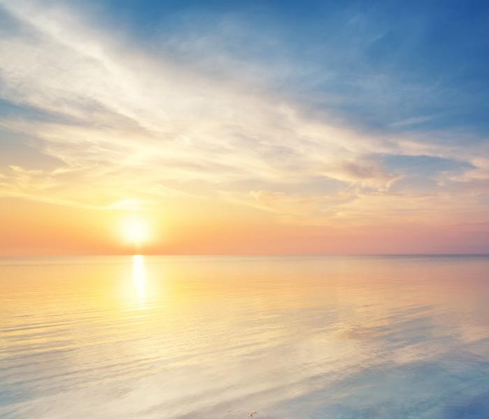 calming sunset over ocean