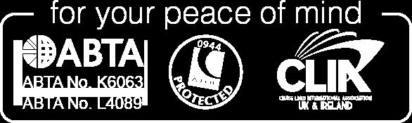 ABTA, ATOL and CLIA logos