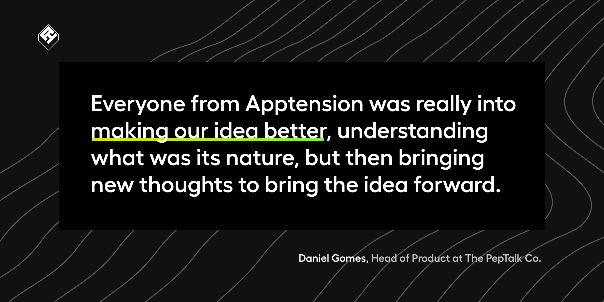 Testimonial about Apptension Web Application from Peptalk