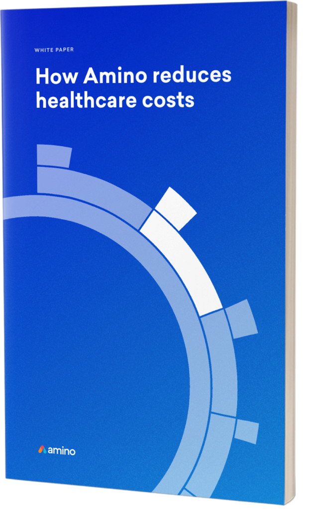 eBook cover image - how Amino reduces healthcare benefits costs