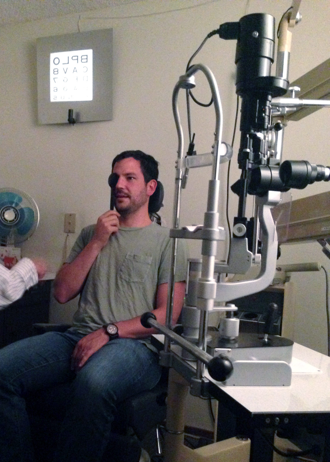 CEO's first eye exam
