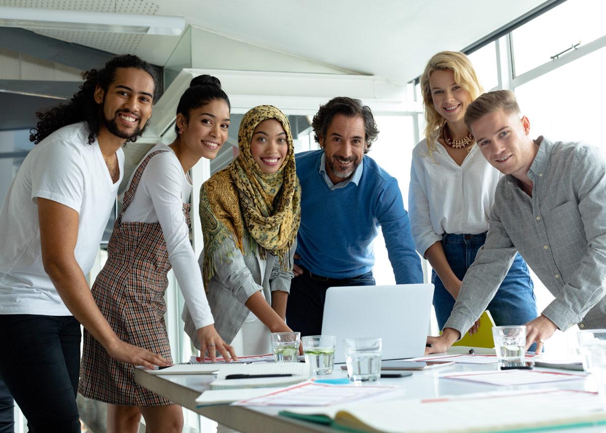 Photo of an executive team