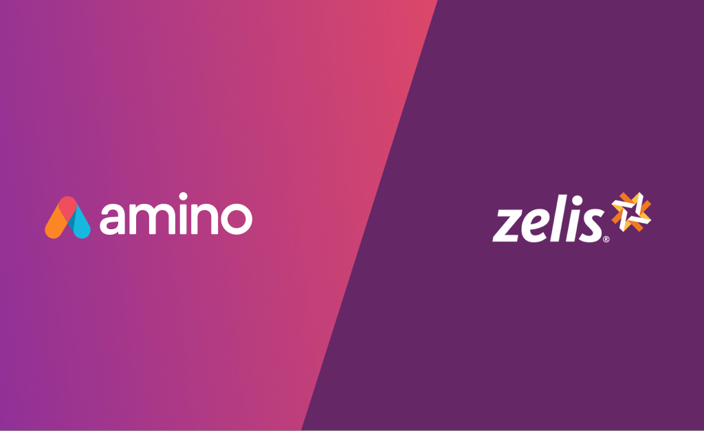 Image with Amino and Zelis logos showing reference-based pricing partnership