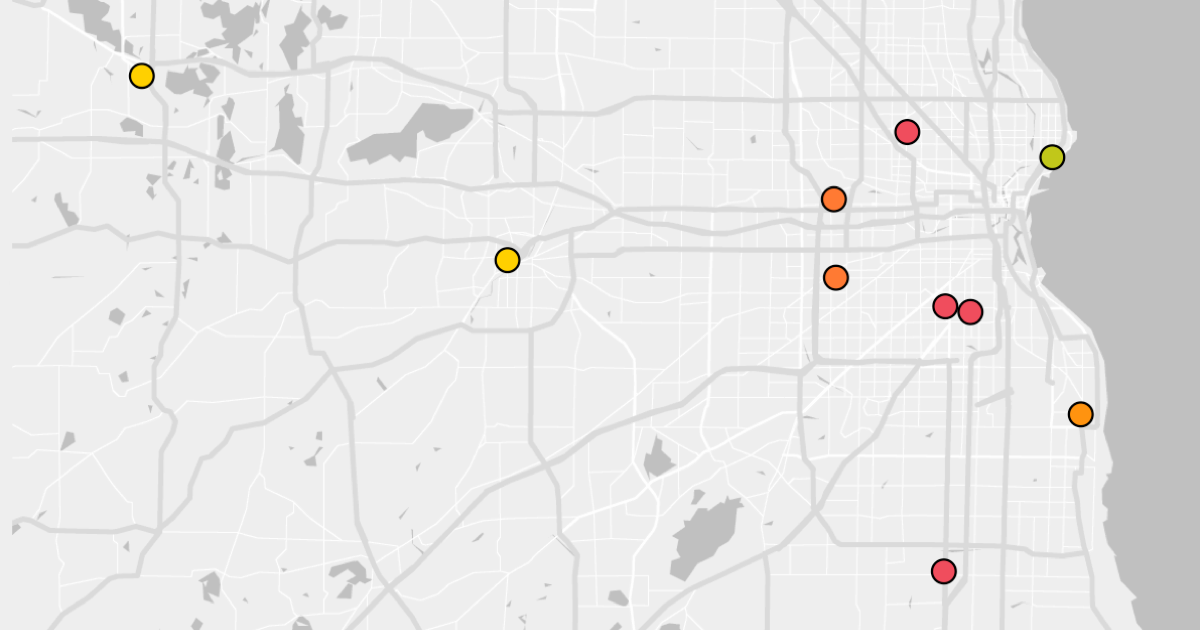 Map of Dallas, Texas and average hospital cost variance.